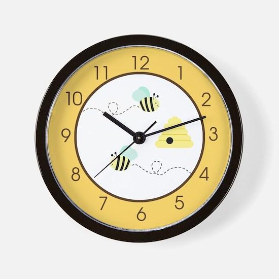 Bumble Bee Yellow Wall Clock