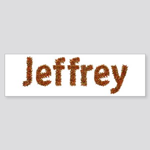 Jeffrey Fall Leaves Bumper Sticker