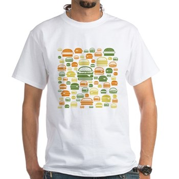 Burgers White T-Shirt