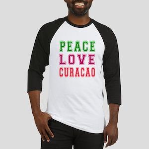 Peace Love Curacao Baseball Jersey