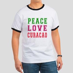 Peace Love Curacao Ringer T