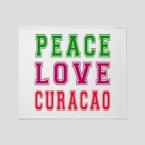 Peace Love Curacao Throw Blanket