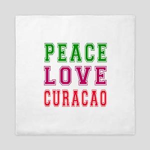 Peace Love Curacao Queen Duvet