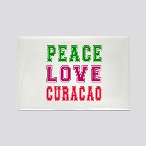 Peace Love Curacao Rectangle Magnet