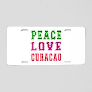 Peace Love Curacao Aluminum License Plate