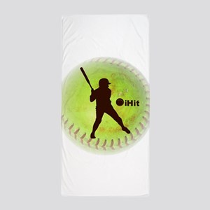 iHit Fastpitch Softball (right handed) Beach Towel