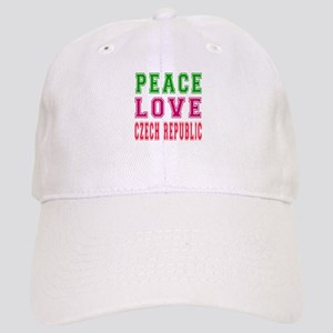 Peace Love Czech Republic Cap
