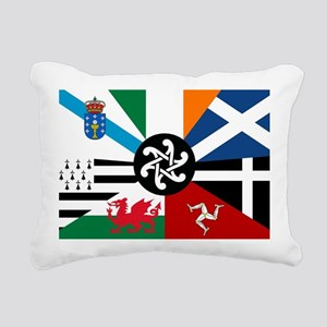 Celtic Nations Collage Rectangular Canvas Pillow