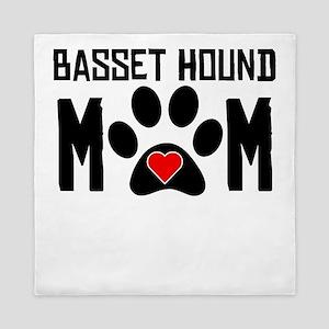 Basset Hound Mom Queen Duvet