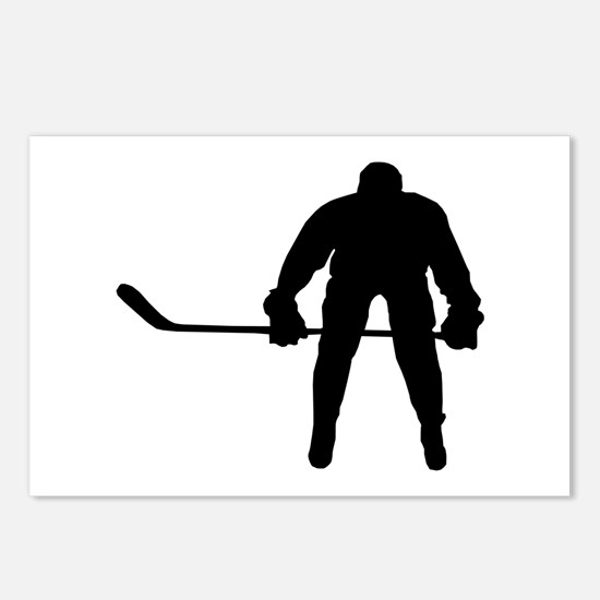 HOCKEY PLAYER Postcards (Package of 8)