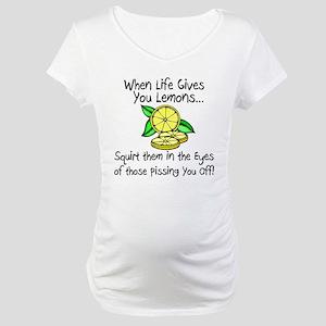 Funny Lemons Maternity T-Shirt