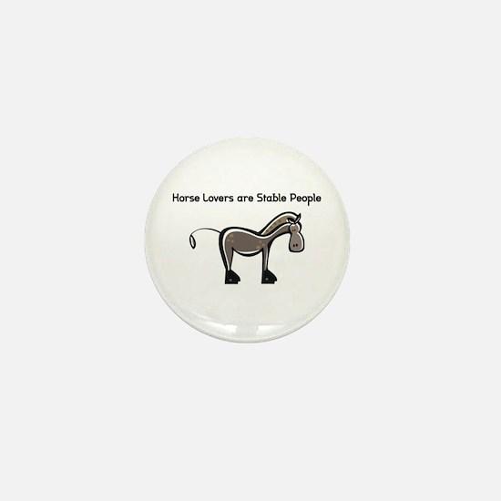 Horse Lovers Mini Button