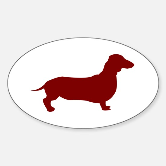 Just Dachshund (Red) Oval Decal