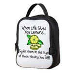Funny Lemons Neoprene Lunch Bag