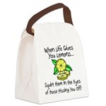 Funny Lemons Canvas Lunch Bag