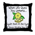 Funny Lemons Throw Pillow