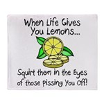 Funny Lemons Throw Blanket