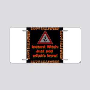 Instant Witch Aluminum License Plate