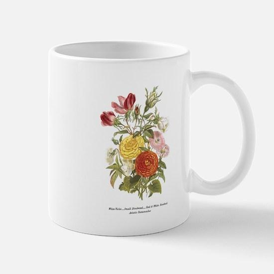 Violet, Rosebuds and Ranunculus Mugs