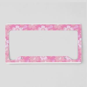 Pink Floral License Plate Holder