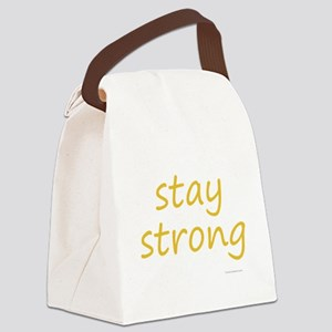 stay strong Canvas Lunch Bag