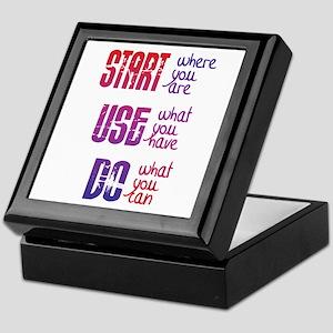 Start - Use - Do Keepsake Box
