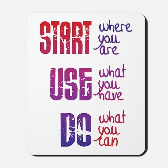 Start - Use - Do Mousepad