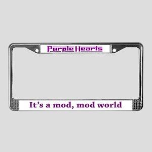 Purple Hearts License Plate Frame