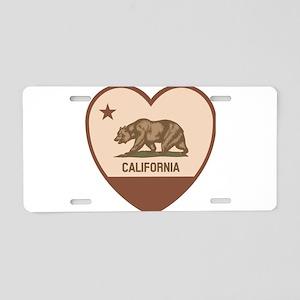 Love California Aluminum License Plate