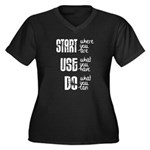 Start - Use - Do Plus Size T-Shirt