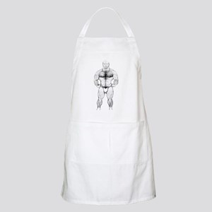 HAIRY MUSCLE BEAR_ BBQ Apron