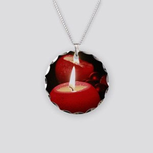 Candle001 Necklace Circle Charm
