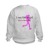I run like a girl Crew Neck