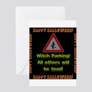 Witch Parking - Toad Greeting Card