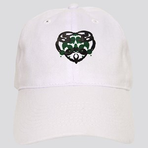 Celtic Green Heart Inkblot Baseball Cap