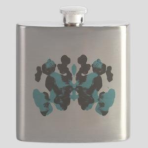 Wednesday Blue Inkblot Flask