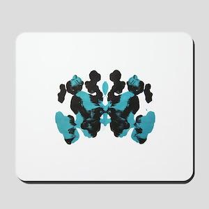 Wednesday Blue Inkblot Mousepad