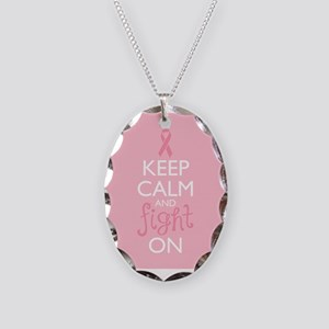 Keep Calm and Fight On Necklace