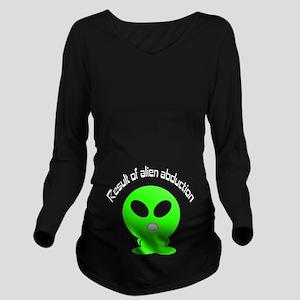 Alien Abduction Long Sleeve Maternity T-Shirt