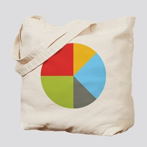 Simple Pie Chart Tote Bag