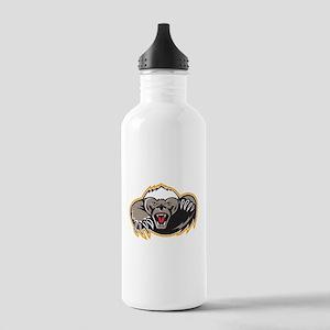 Honey Badger Mascot Claw Water Bottle
