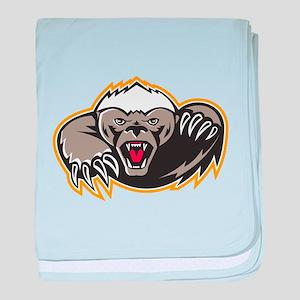 Honey Badger Mascot Claw baby blanket