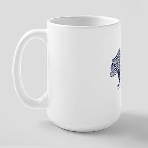 Bear Knotwork Blue Large Mug