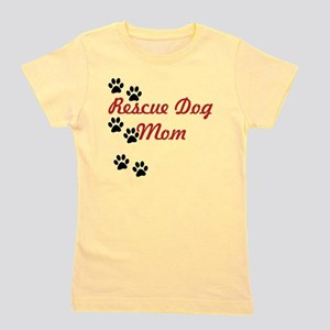 Rescue Dog Mom Girl's Tee
