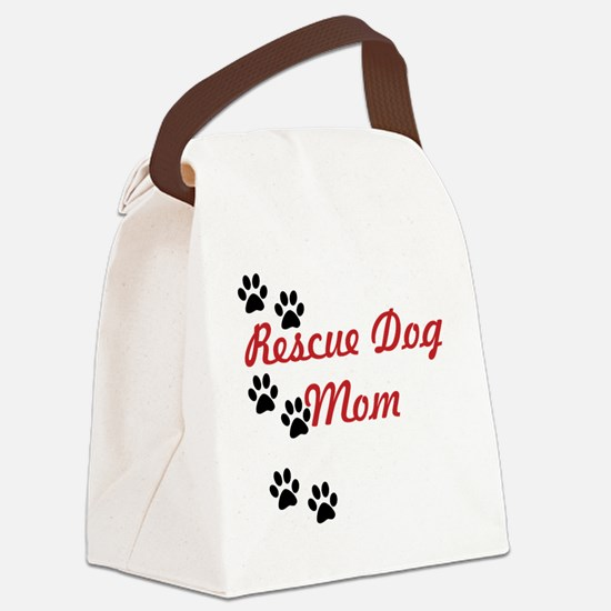Rescue Dog Mom Canvas Lunch Bag