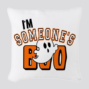 Im Someones Boo Ghost Halloween Woven Throw Pillow