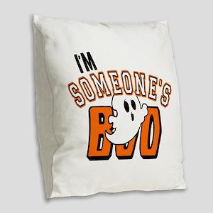 Im Someones Boo Ghost Halloween Burlap Throw Pillo