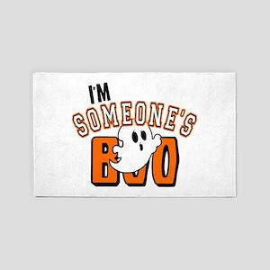 Im Someones Boo Ghost Halloween 3'x5' Area Rug