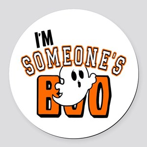 Im Someones Boo Ghost Halloween Round Car Magnet