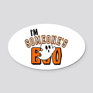 Im Someones Boo Ghost Halloween Oval Car Magnet